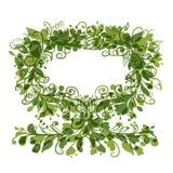 Blom- trädgräsplan med ramen för din text Royaltyfri Bild