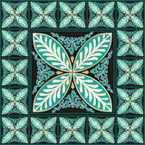 Blom- traditionell mosaikhemdekor Royaltyfri Foto