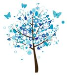 blom- tree Arkivfoto