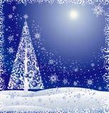 blom- tree för jul royaltyfri illustrationer