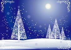 blom- tree för jul stock illustrationer