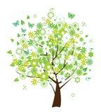 blom- treevektor Arkivbild