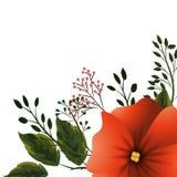 Blom- tropisk tecknad film royaltyfri illustrationer
