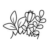Blom- tropisk tecknad film stock illustrationer