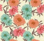blom- upprepa för bakgrund stock illustrationer