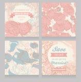 Blom- uppsättning för att gifta sig garnering royaltyfri illustrationer