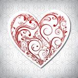Blom- valentinkort Royaltyfria Foton