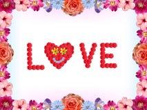 Blom- valentinkort - förälskelse vektor illustrationer