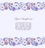 Blom- vattenfärggräns Royaltyfria Foton