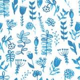 Blom- vattenfärgmodell, textur med blommor royaltyfri illustrationer