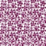 Blom- vattenfärgprydnad på geometrisk plädtextur arkivfoton