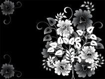 blom- vektor för abstrakt bakgrund Arkivbilder