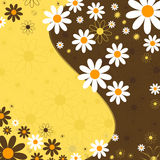 blom- vektor för abstrakt bakgrund stock illustrationer