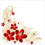 blom- vektor för bakgrund Royaltyfria Bilder