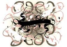 blom- vektor för banerstaket stock illustrationer