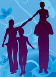 blom- vektor för familj stock illustrationer
