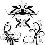 blom- vektor för garnering stock illustrationer