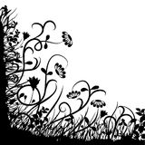 blom- vektor för kaos royaltyfri illustrationer