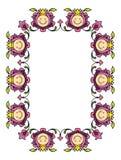 blom- vektor för ram 2 Fotografering för Bildbyråer