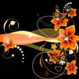 blom- vektor för bakgrund Royaltyfri Fotografi