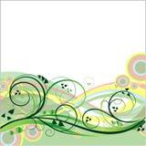 Blom- vektorbakgrund Royaltyfria Bilder