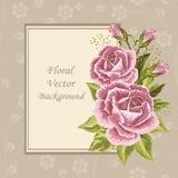 Blom- vektorbakgrund Arkivfoto