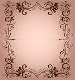 Blom- vektorram Fotografering för Bildbyråer