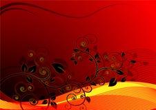 blom- vektorwave för bakgrund stock illustrationer