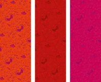 Blom- vertikala baner för tappning Arkivfoto