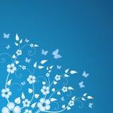 blom- vinter för bakgrund royaltyfri illustrationer
