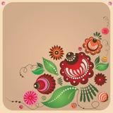 Blom- vykort för rysk stil Fotografering för Bildbyråer