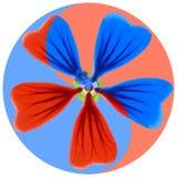 Blom- Yin Yang symbol royaltyfria bilder