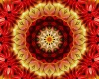 Blom- yogamandala Arkivbilder