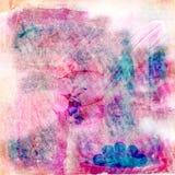 Blom- zigensk bohemisk TapestryScrapbookbakgrund Royaltyfria Bilder