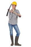 Bloman avec une pioche Photo stock