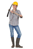 Bloman with a pickaxe Stock Photo