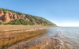 Blomidon峭壁的岩石 库存照片