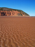 Blomidon. Beach on the Bay of FUndy Stock Image