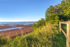 Blomidon beach in the morning Royalty Free Stock Photography