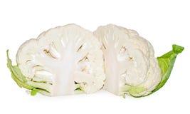 blomkål isolerad white royaltyfri fotografi