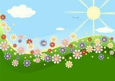 Blommaäng Royaltyfri Illustrationer
