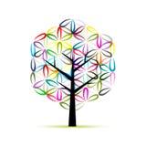 Blomma av livstid Konstträdet, skissar för din design stock illustrationer