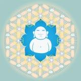 Blomma av livstid med Buddah inom Arkivbild