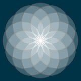 Blomma av livstid sakral geometri stock illustrationer