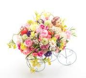 Blomma buketten i vase Royaltyfria Bilder