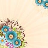 blomma för 3 bakgrund Arkivbilder