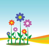 Blomma för bakgrund Arkivfoto