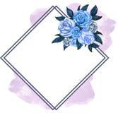 Blomma för elegant bukett för tappning för vattenfärggouache färgrik med royaltyfri illustrationer
