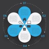 Blomma för Infographic beståndsdelcirkel Royaltyfri Foto