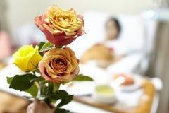 Blomma för patient Arkivbild